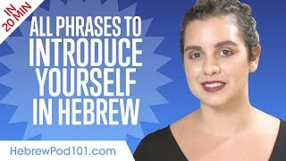ALL Phrases to Introduce Yourself like a Native Hebrew Speaker