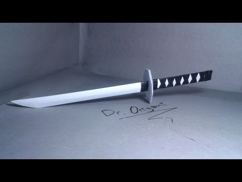   DIY   How to make a paper japanese katana- Easy Tutorial