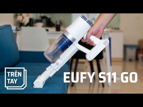 Trên tay Eufy HomeVac S11 Go: máy hút bụi không dây pin lâu 40 phút, có 2 đầu hút mô-tơ