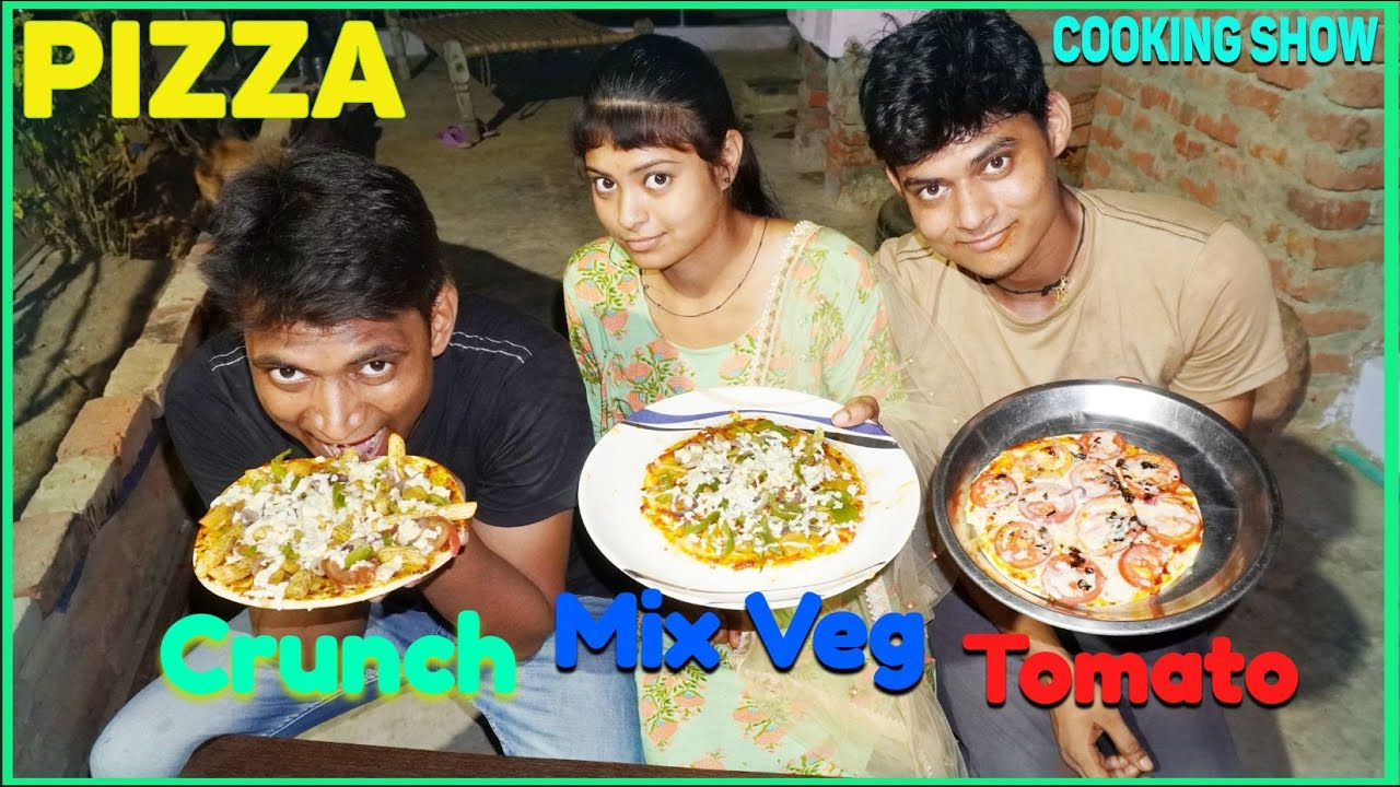 Tasty & Yummy Homemade Crunch Pizza Recipe | Brother And Sister Cooking Show | Desi Taste Pizza