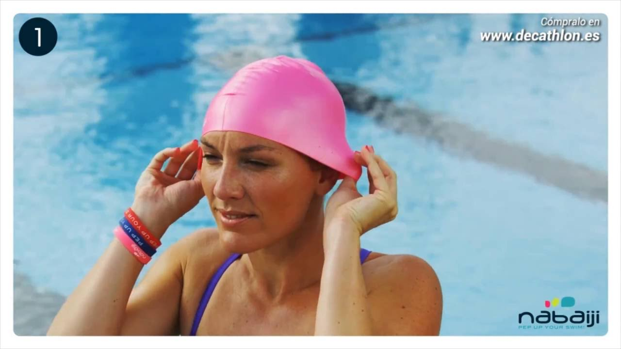 C mo colocar correctamente nuestro gorro youtube for Gorro piscina