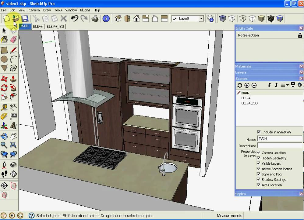 sketchup kitchen design using dynamic component cabinets part 3 of 3 - Sketchup Kitchen Design