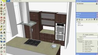 Sketchup Kitchen Design Using Dynamic Component Cabinets (part 3 Of 3)