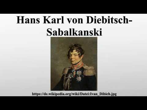 Hans Karl von Diebitsch-Sabalkanski