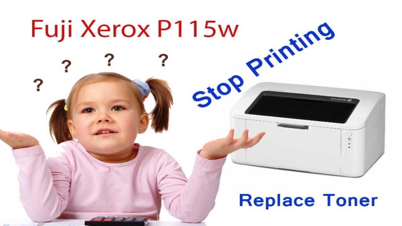 ដោះService Fuji Xerox P115w ||How to fix replace toner for Fuji Xerox  DocuPrint P115w