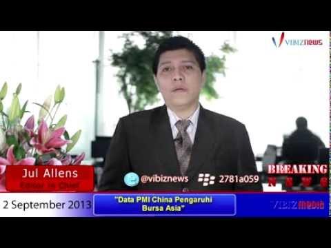 Data PMI China Pengaruhi Bursa Asia, Vibiznews 2 September 2013