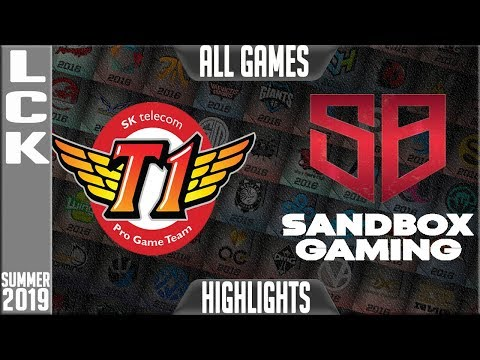 SKT vs SB Highlights ALL GAMES | LCK Summer 2019 Week 10 Day 3 | SK Telecom T1 vs Sandbox Gaming