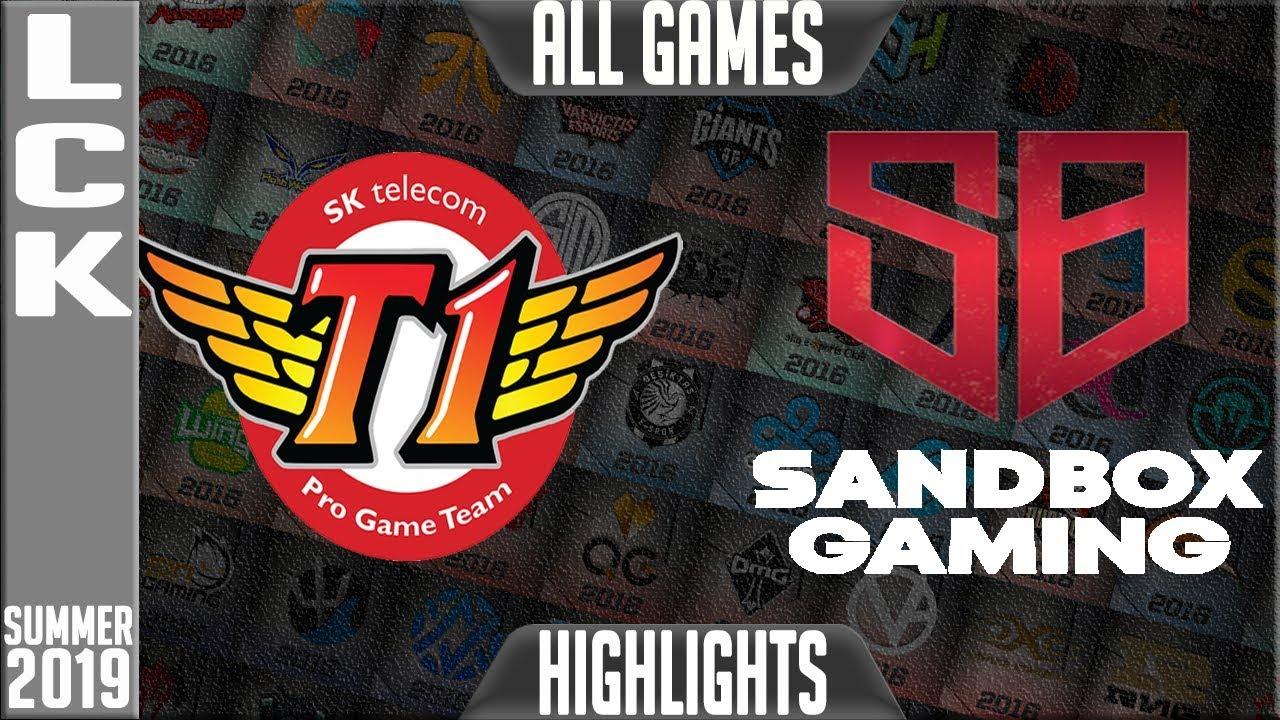 SKT vs SB Highlights ALL GAMES | LCK Summer 2019 Week 10 Day 3 | SK Telecom T1 vs Sandbox Gaming