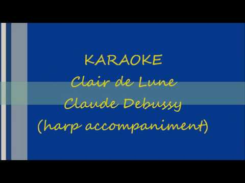 KARAOKE Clair de Lune harp accompaniment