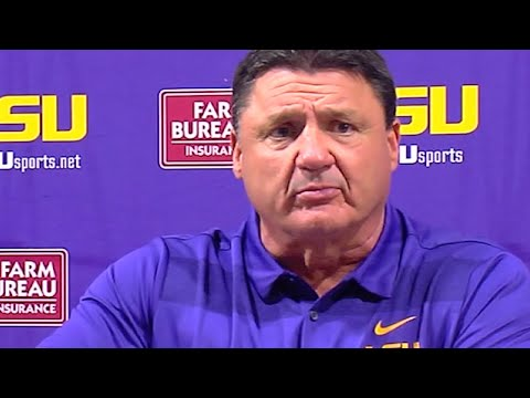 Don't Mess With Ed Orgeron During A Press Conference