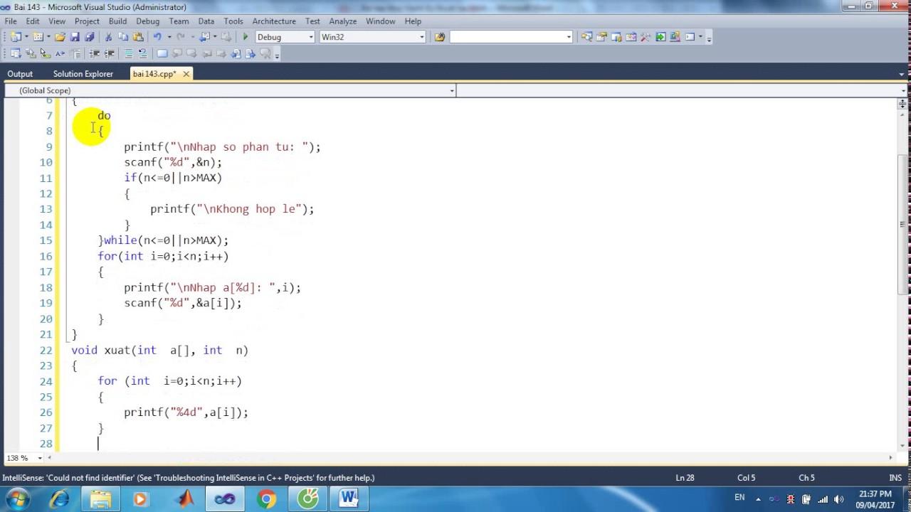 Bài 143: Viết hàm tìm số chẵn đầu tiên trong mảng các số nguyên,không có giá trị chẵn trả về -1