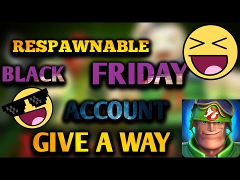 Respawnable Give A Way Account Black Friday