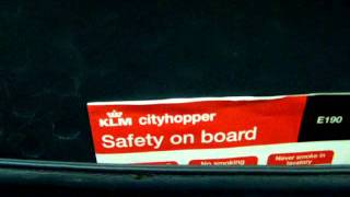 partial safety instructions klm cityhopper embrear 190