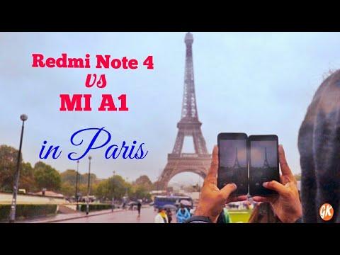 Redmi Note 4 vs MIA1 Camera Comparison in Paris