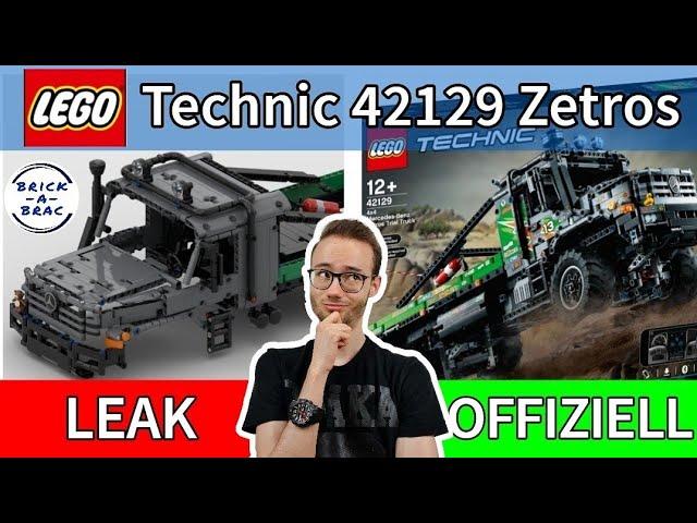 Vom LEAK zum OFFIZIELLEN Set: LEGO® Technic 42129 Mercedes ZETROS - Was hat sich verändert?