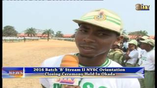 2016 Batch 'B' Stream II NYSC Orientation Closing Ceremony Held In Okada