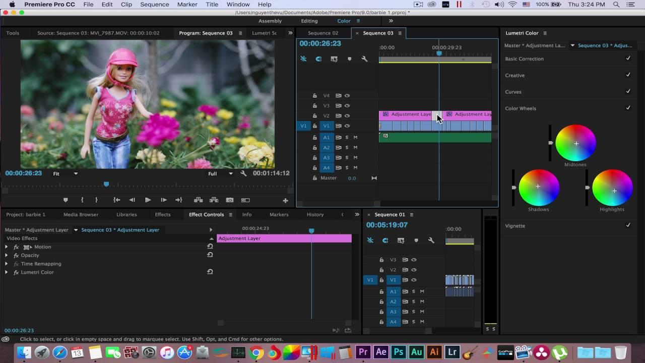 Cách Chỉnh Màu Như Phim Bằng Phần Mềm Adobe Premiere Pro CC 2015