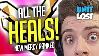 Overwatch - New Mercy MASTER Gameplay! (ALL THE HEALS!)