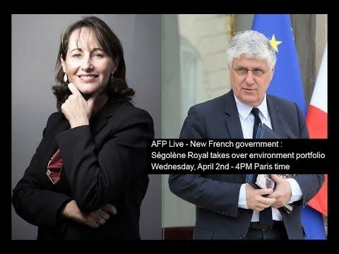 AFP Live - New French government : Ségolène Royal takes over environment portfolio