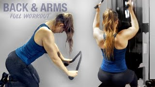 INTENSE BACK & ARMS Workout ! + Protein Recipe