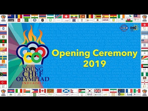 Live | Opening Ceremony | Young Chef Olympiad 2019 | Delhi | 28th Jan'19