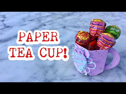 HOW TO MAKE PAPER TEACUP | DIY TUTORIAL | PARTY FAVOR