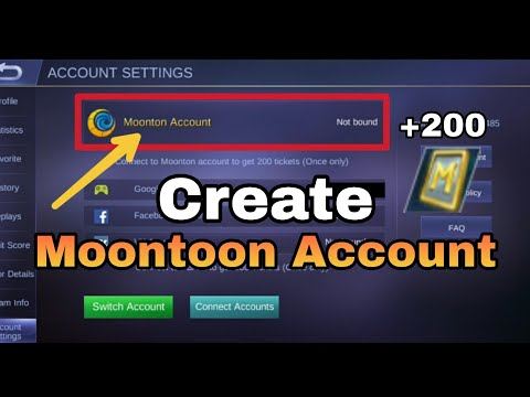 Tutorial | Create Moonton Account In Mobile Legends | Mobile Legends BangBang
