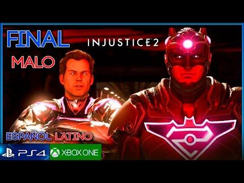 INJUSTICE 2 FINAL MALO Español Latino Gameplay | Capitulo 12 BATMAN V SUPERMAN WONDER WOMAN