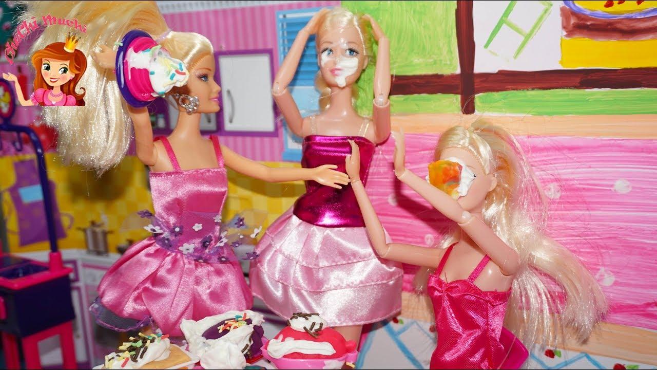 Masak Masakan Mainan Barbie Masak Mainan Anak Perempuan Barbie Make A Cake Youtube