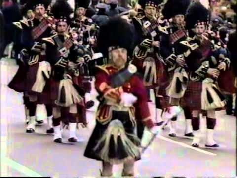 NYC Transit Police Pipe Band, 1987 St Patrick