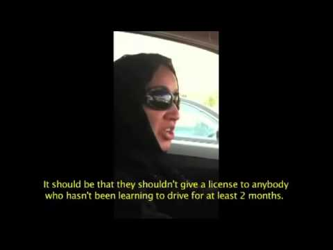 Saudi woman drive the car in riyadh saudi Arabia