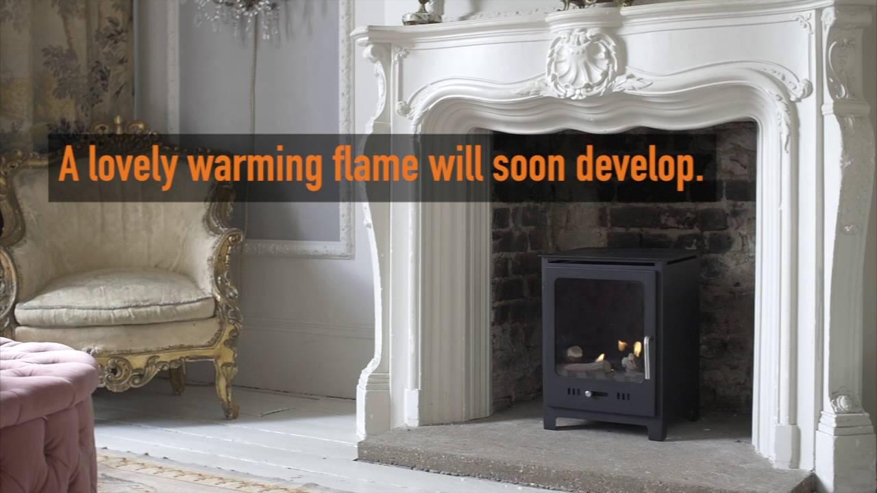 how to light a bioethanol fireplace youtube