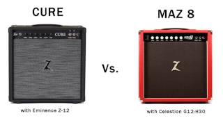 Dr. Z Cure Vs. Maz 8 comparison with Fender Stratocaster