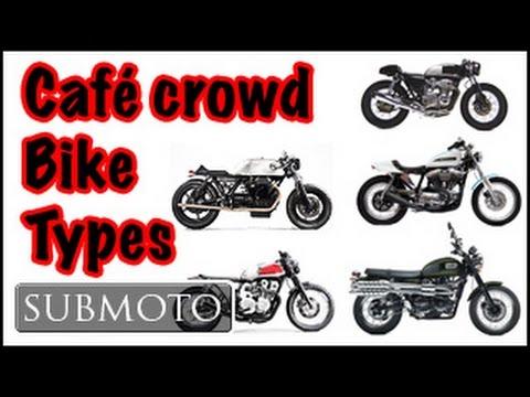 the difference between café, tracker, scrambler, brat, & rat bikes