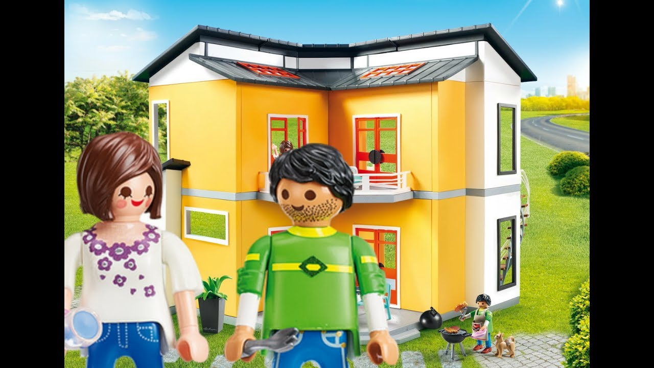 Playmobil maison moderne wohnhaus 2018 youtube for Cuisine 9269