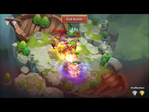 Lost BattleField Over Powering The Lower Ranks Castle Clash