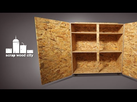 Make a simple DIY rolling cabinet out of OSB