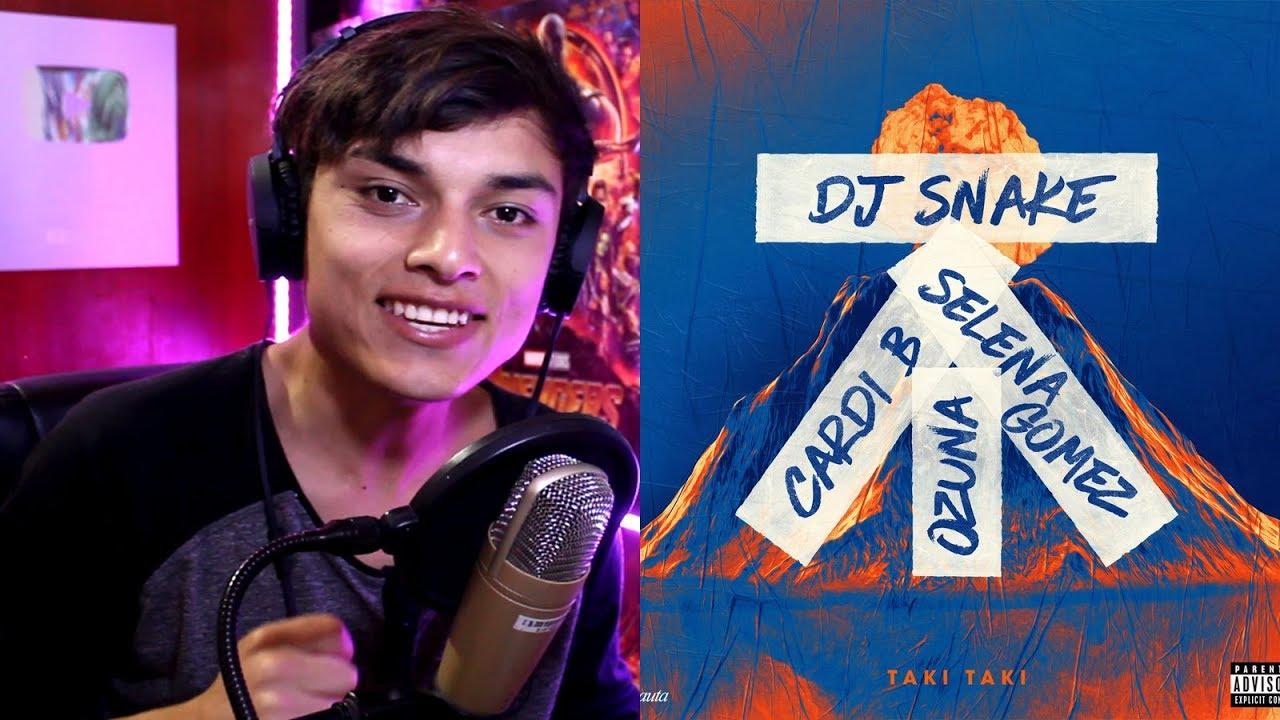 DJ Snake feat Selena Gomez, Ozuna & Cardi B - Taki Taki (Audio) Reaccion #1