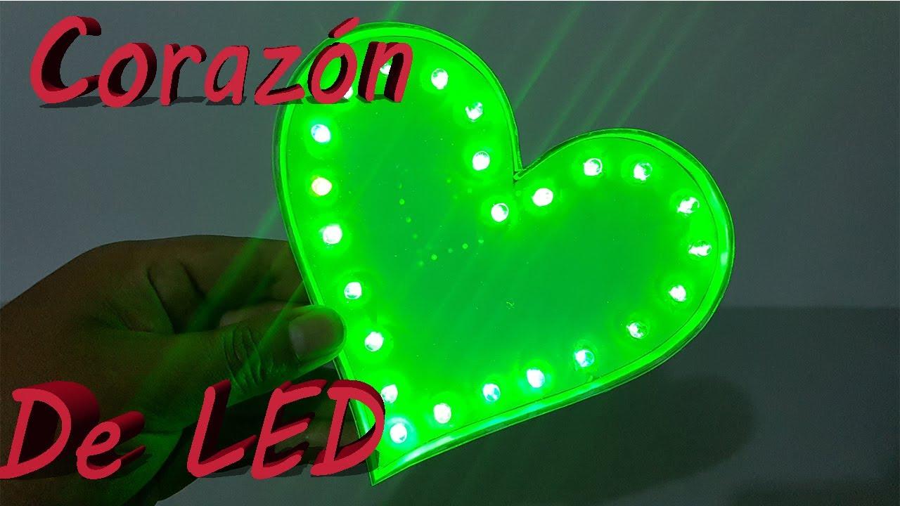 Cómo Hacer Corazón Luminoso de LEDs Multicolor