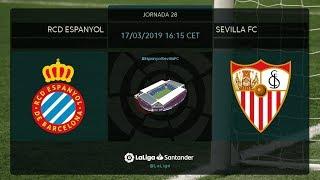Calentamiento RCD Espanyol vs Sevilla FC