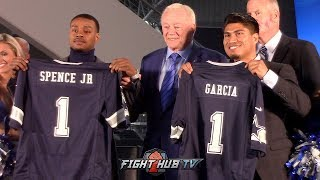 ERROL SPENCE VS MIKEY GARCIA - FULL DALLAS, TEXAS PRESS CONFERENCE VIDEO FROM AT&T STADIUM