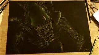 Speed Draw: Alien