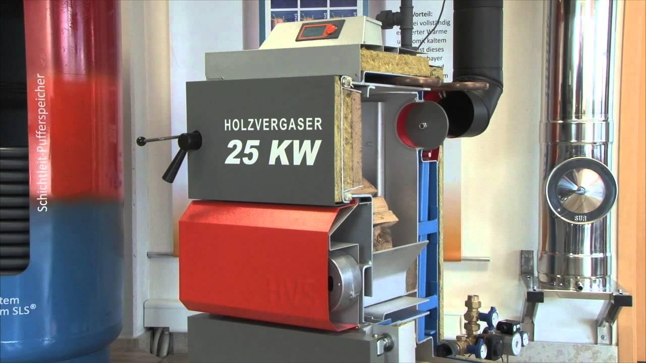 Solarbayer Holzvergaserkessel HVS  Funktionsprinzip  YouTube