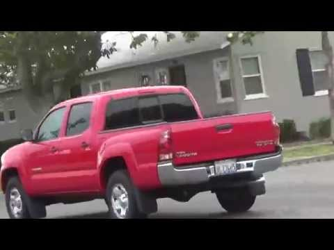 Unloading Car For Walk - RED Truck Passes By - 5/7/2014