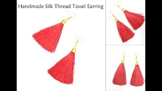 How to make Silk Thread Tassel Earrings | Handmade Earrings