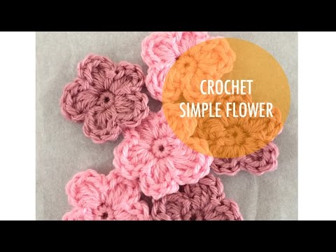 How to Crochet - Simple 5 Petal Flower from YouTube · Duration:  6 minutes 48 seconds