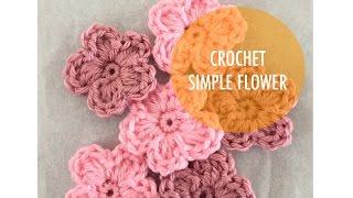 How to Crochet - Simple 5 Petal Flower