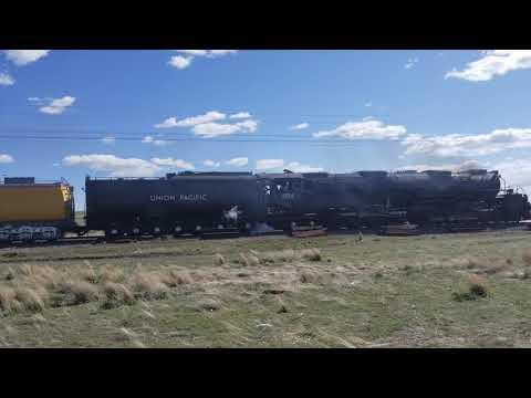 Big Boy (UP No  4014) in Medicine Bow Wyoming - YouTube