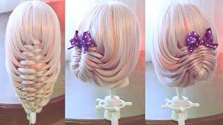 Плетение корзинка | Авторские причёски | Лена Роговая | Hairstyles by REM | Copyright ©