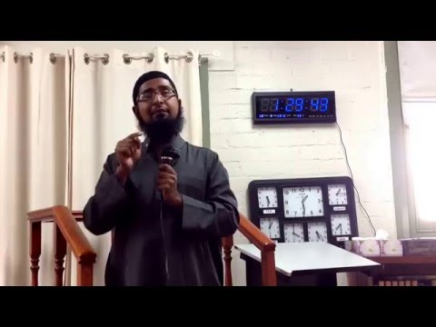 Juma Khutba at Quakers hill Masjid by Br Rony 29_4_2016